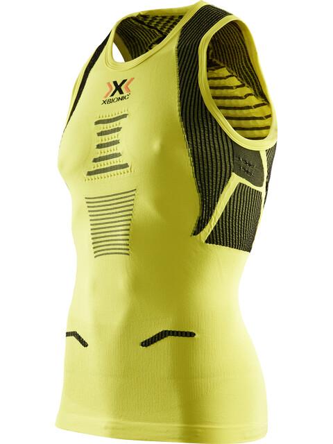 X-Bionic The Trick Running Hardloopshirt zonder mouwen Heren geel/groen